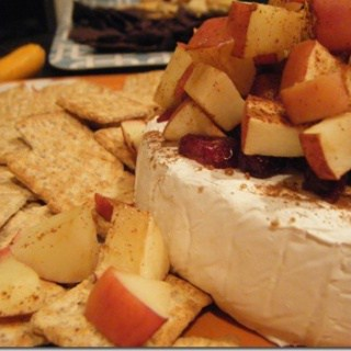cranberry apple baked brie