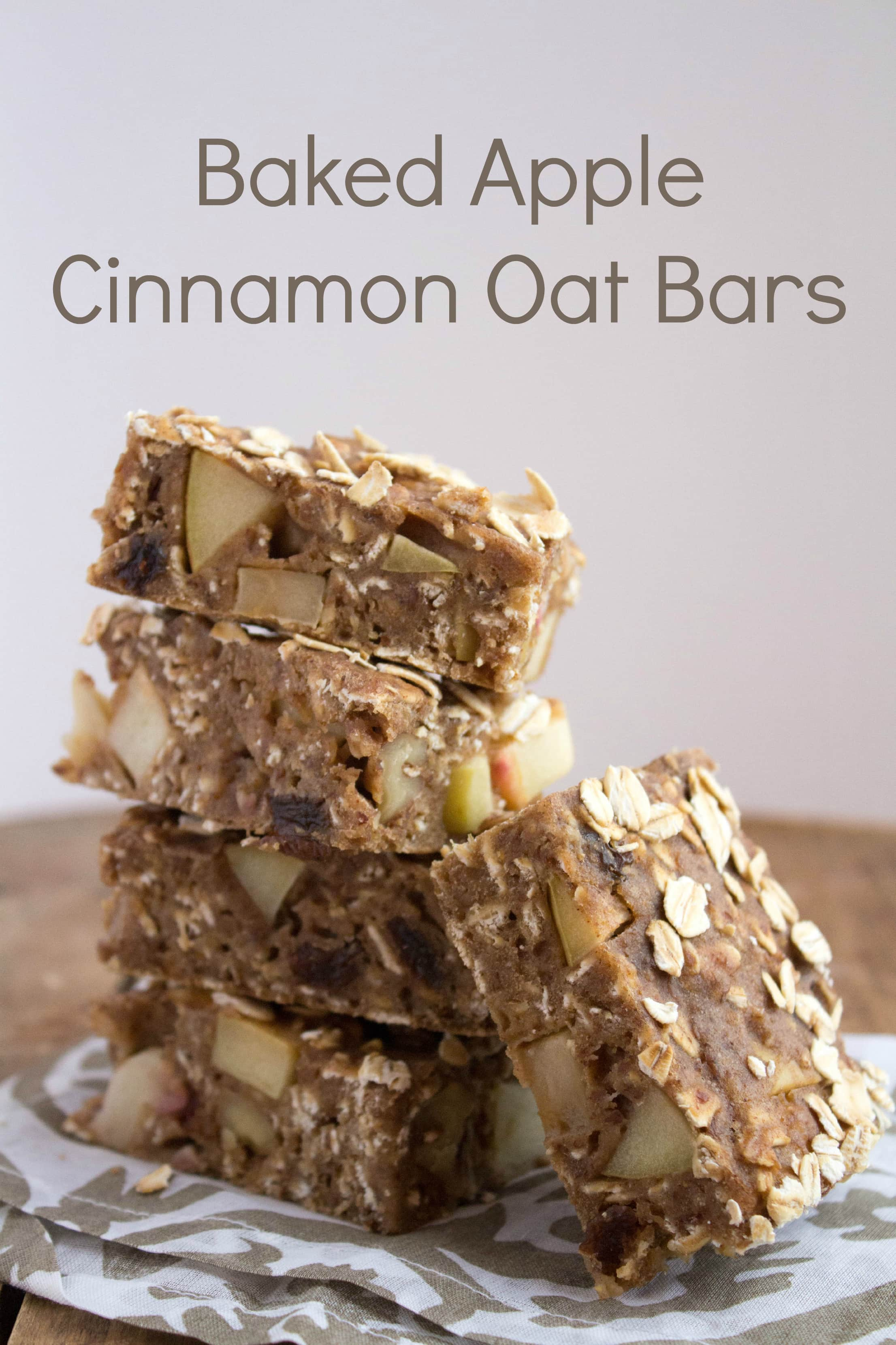 Baked Apple Cinnamon Oat Bars are amazing — they taste like apple ...