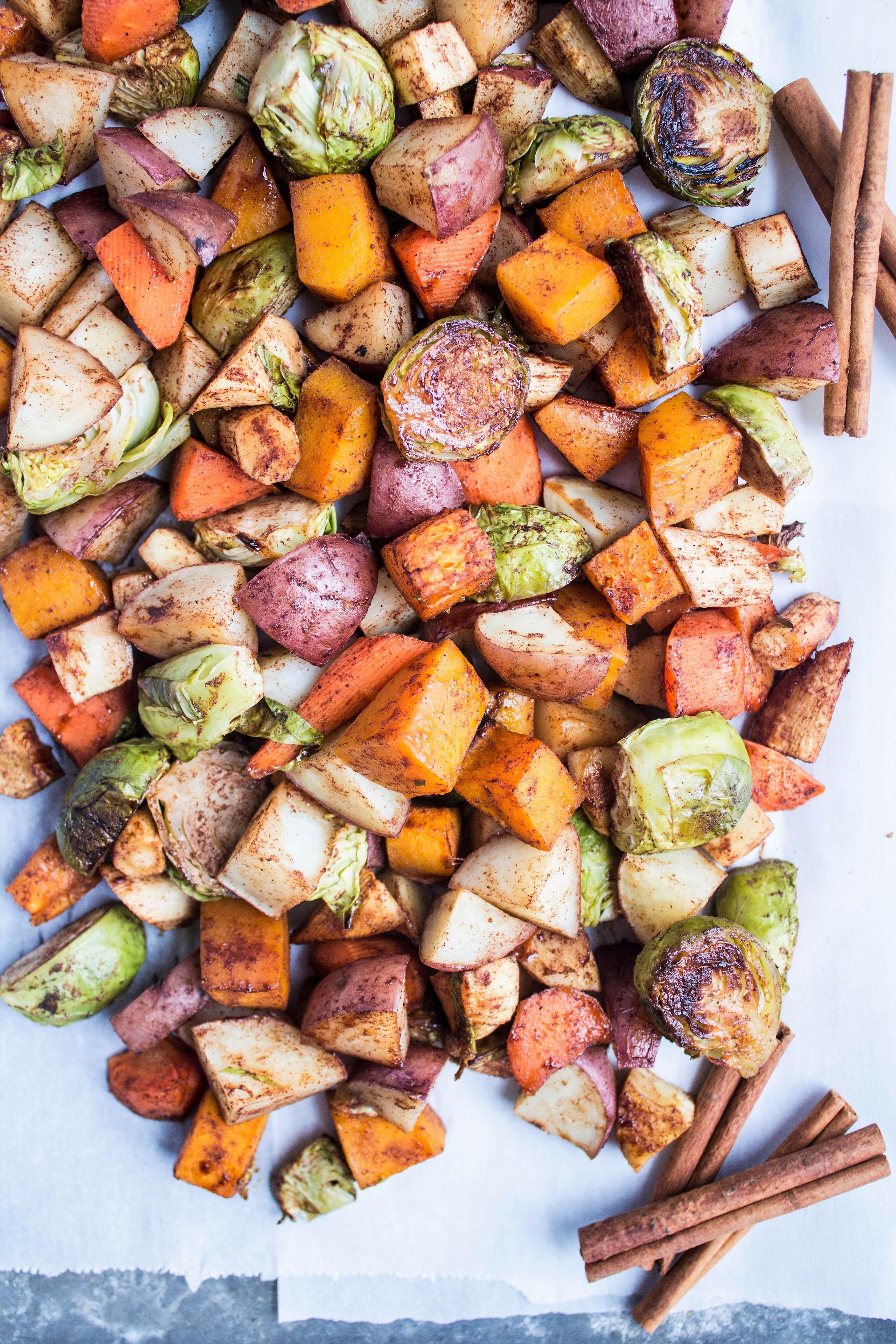 Maple Cinnamon Roasted Veggies Fannetastic Food