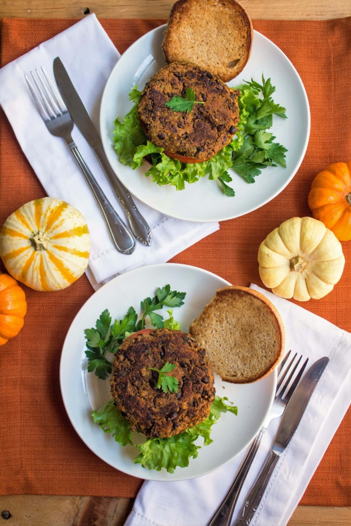pumpkin black bean veggie burgers recipe