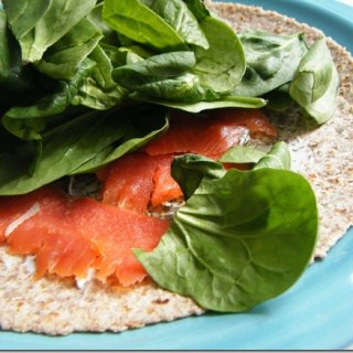 smoked salmon wrap with dill