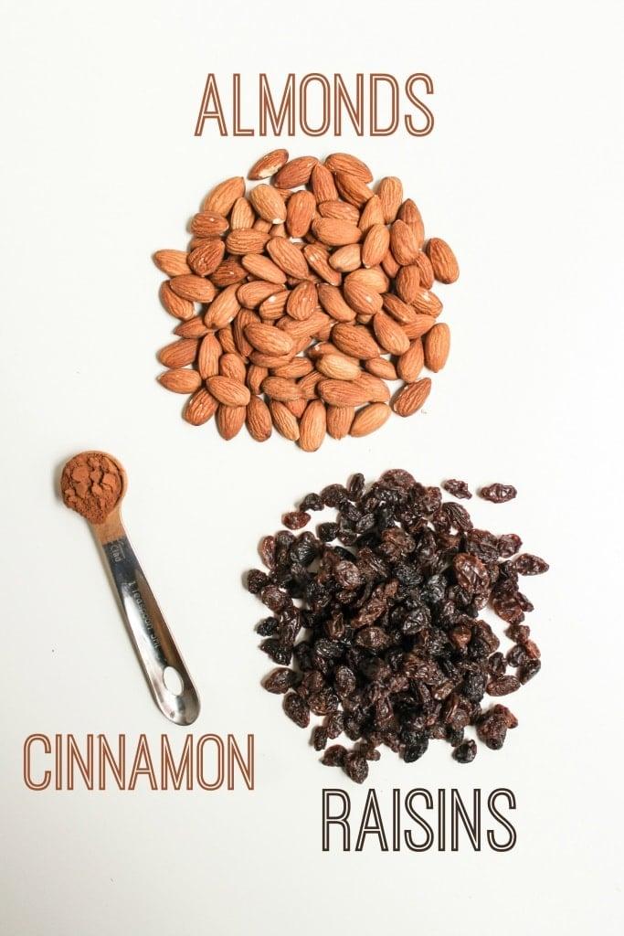 cinnamon raisin almond energy balls ingredients