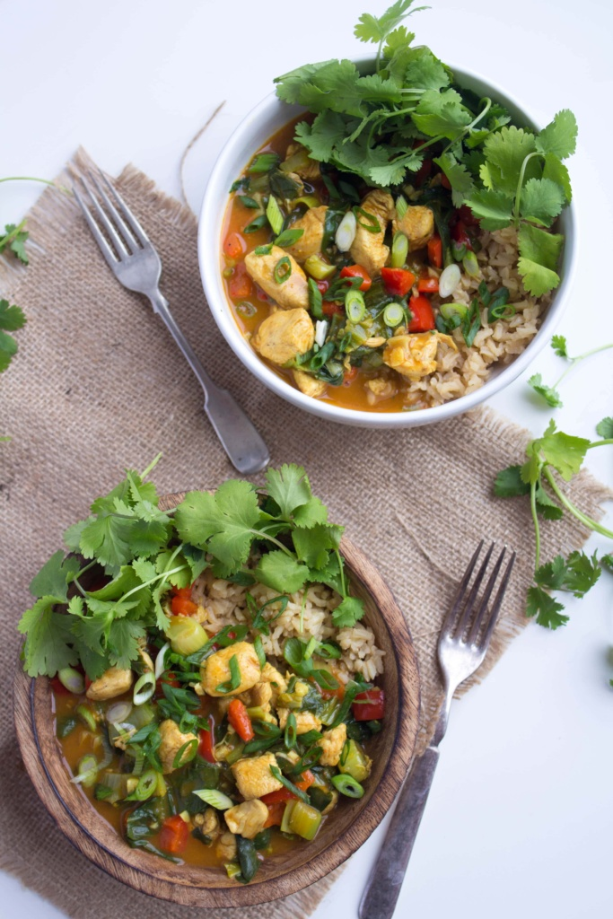 easy coconut curry weeknight meal idea