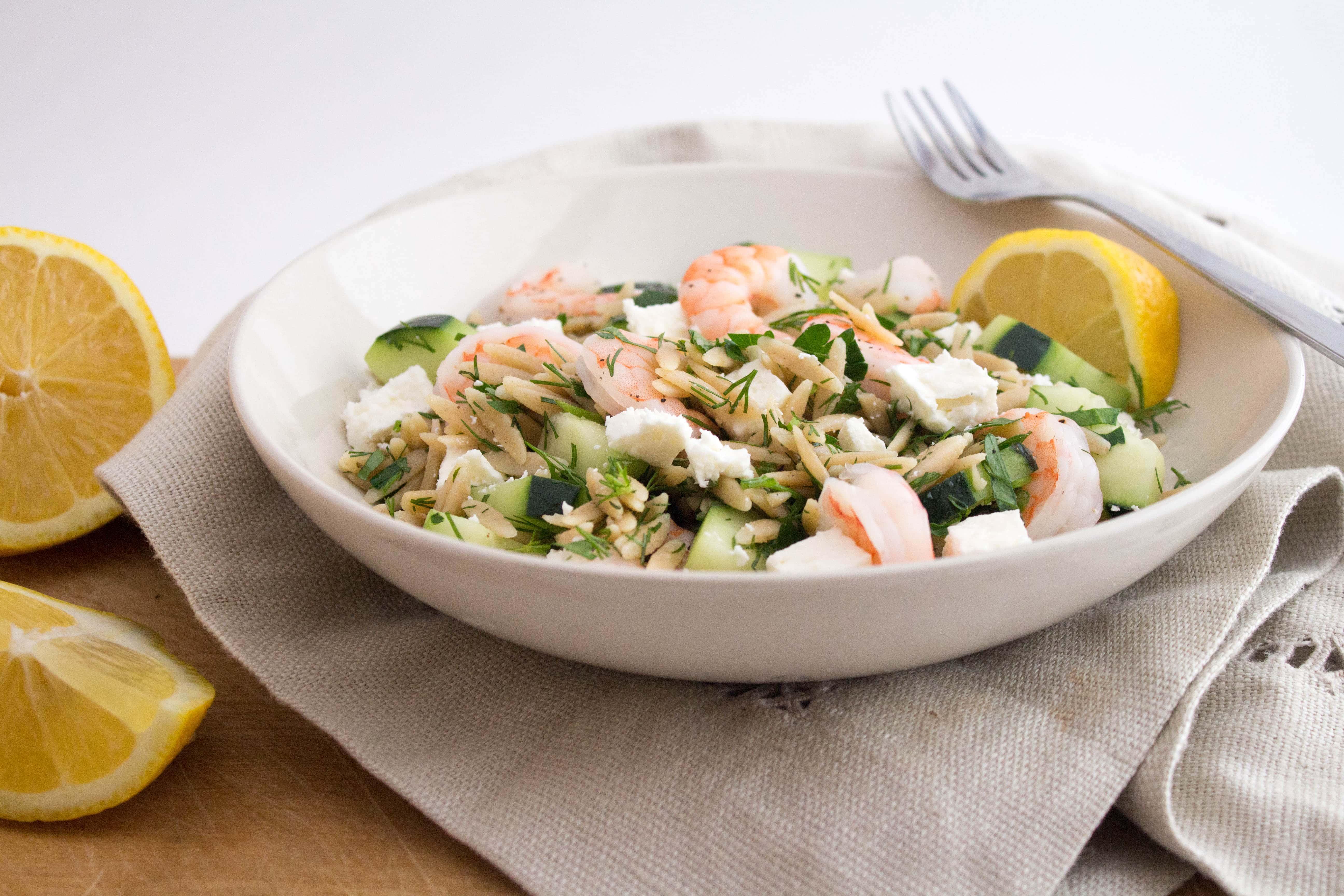 shrimp cucumber feta orzo salad - Ina Garten Shrimp Salad Recipe