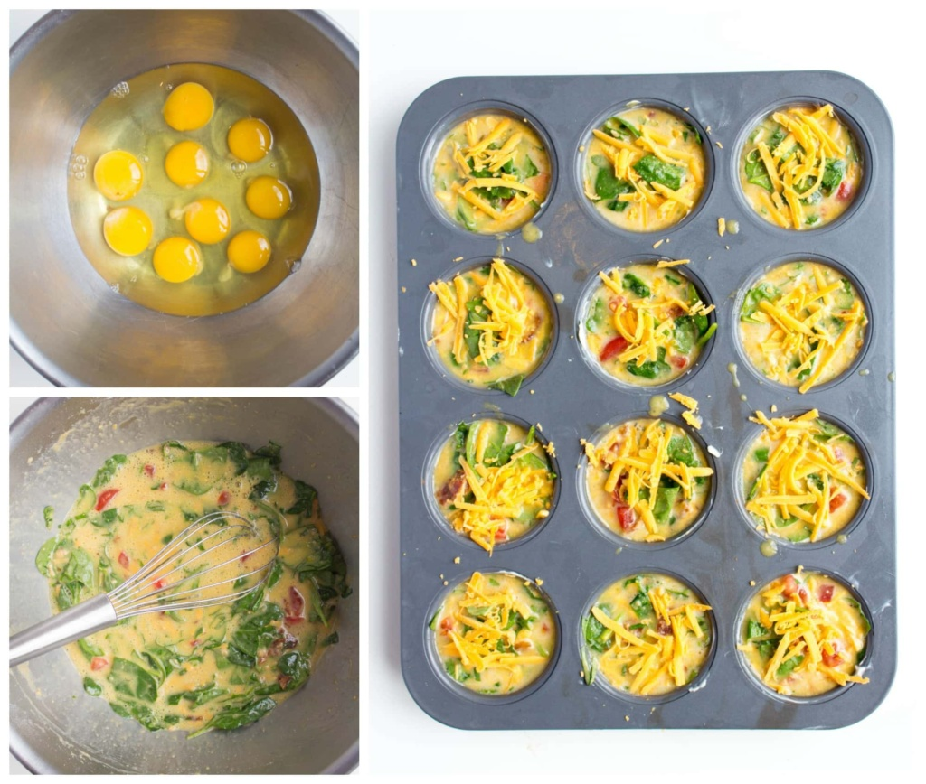 how to make scrambled egg muffins