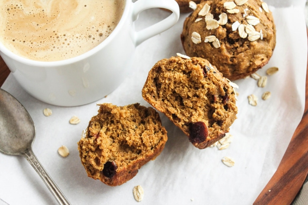 These Spiced Butternut Squash Muffins are the perfect healthy breakfast for a chilly fall morning! They're oil-free, whole wheat, moist & fluffy, and super easy to make.