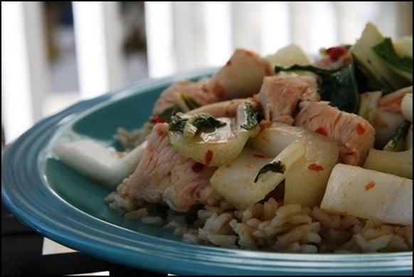 Thai chili garlic chicken with veggies brown rice fannetastic thai chili garlic chicken with veggies brown rice yum 020thumb thai chili garlic chicken forumfinder Choice Image
