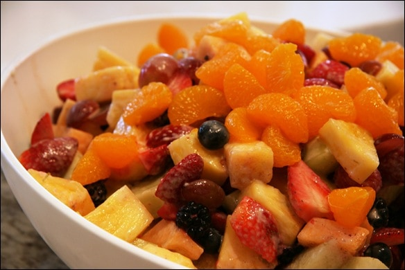 Fruit Salad with Yogurt Honey-Lime Dressing - fANNEtastic food ...