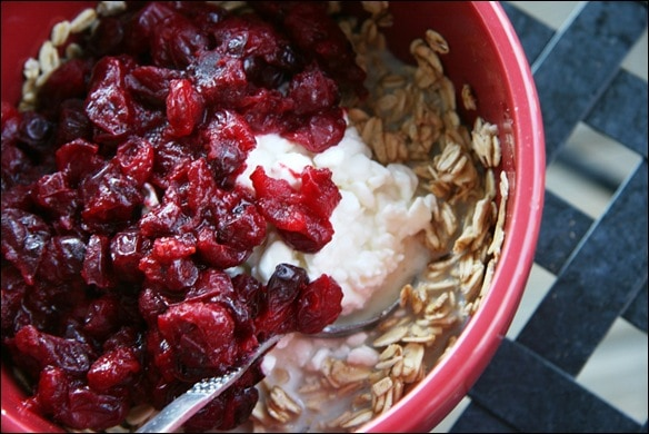 Spiced Cranberry Compote Oatmeal - fANNEtastic food | Registered ...