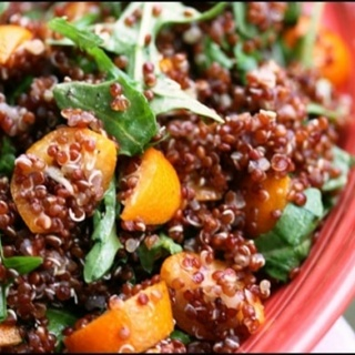 Zesty Kumquat Quinoa Salad (vegan)