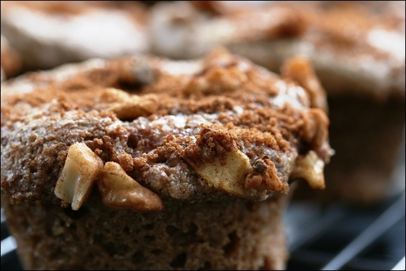 Apple Walnut Crunch Spelt Muffins recipe