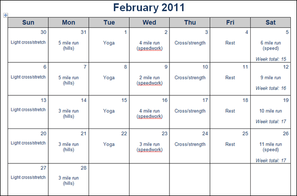 February_2011_training_plan
