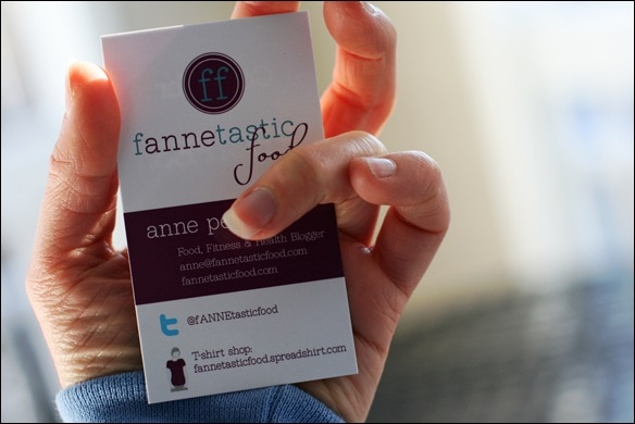 fannetastic food business card