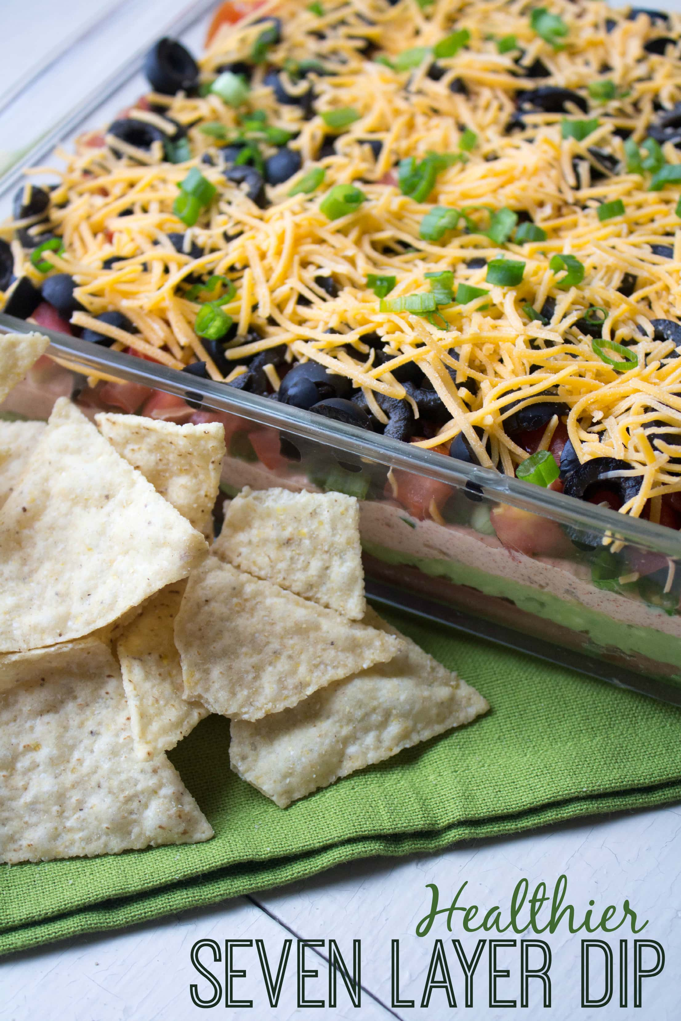 Introducing the best Healthy Seven Layer Dip recipe. It's easy to ...