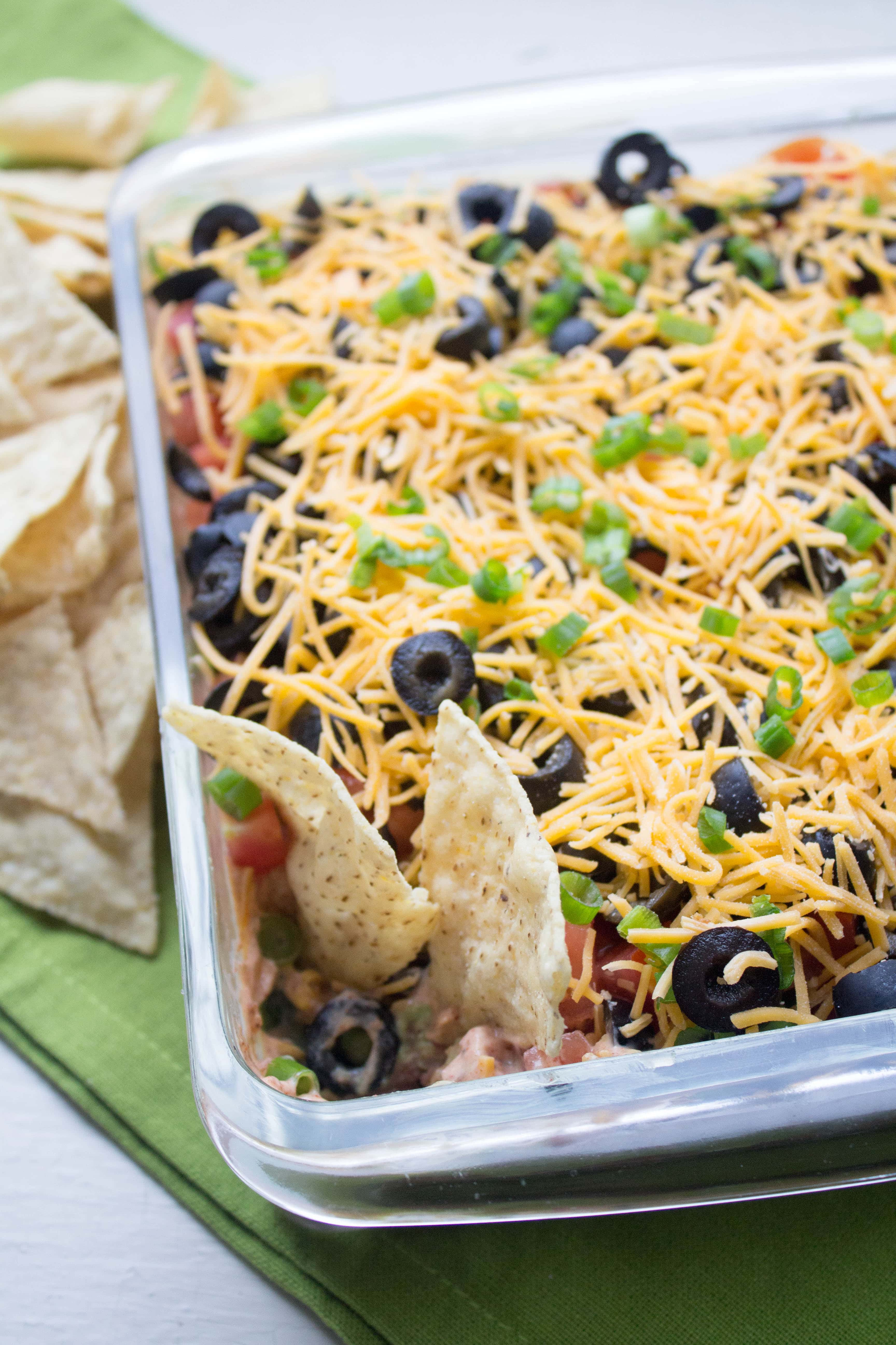 The best healthy seven layer dip easy delicious recipe best healthy 7 layer dip forumfinder Image collections
