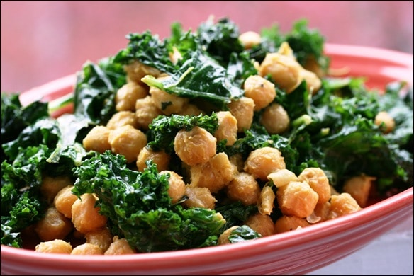 Cheesy vegan coconut sauted chickpeas and kale fannetastic food 033 forumfinder Gallery