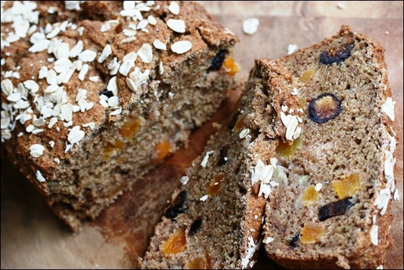 Vegan Figgy Apricot Spelt Bread Recipe
