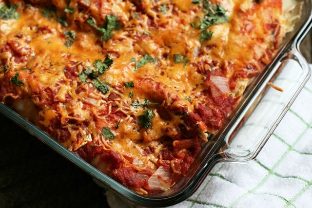 Baked chicken cheese enchiladas recipe
