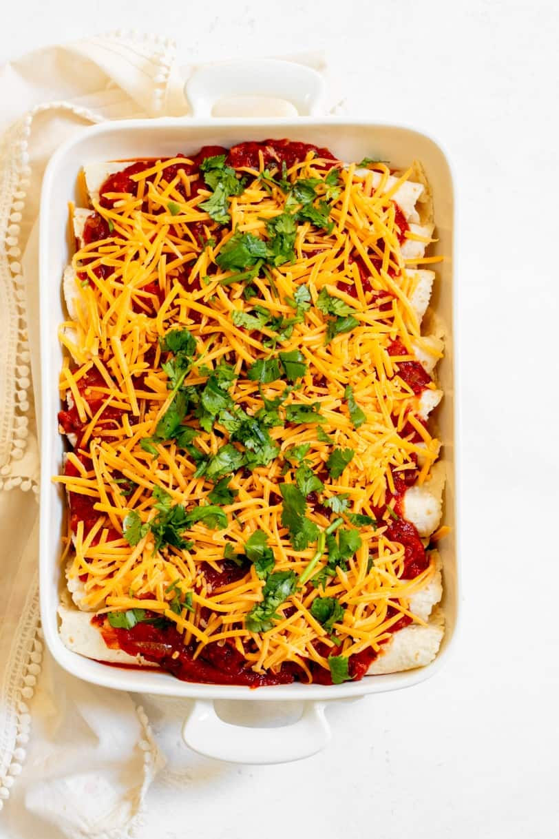 healthy chicken enchiladas casserole