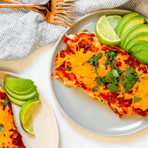 Healthy Chicken Enchiladas (Gluten-Free!)