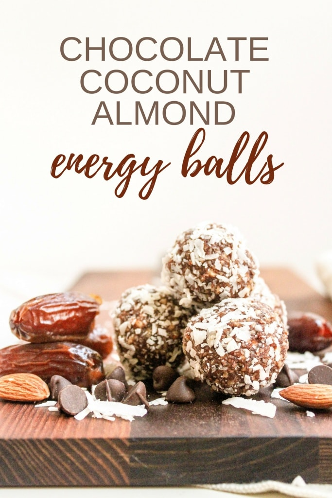These Chocolate Coconut Almond Energy Balls taste like Almond Joy candies - but way healthier! Just 6 ingredients and 5 minutes to #vegan, #glutenfree on the go snack. Recipe via @fannetasticfood