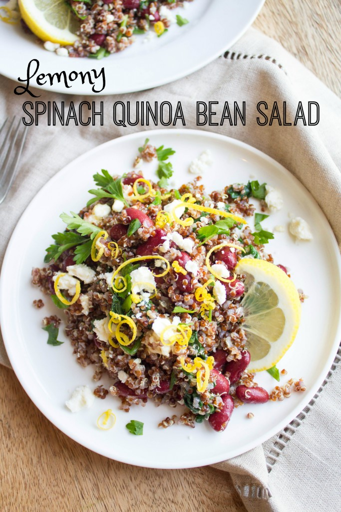 lemon spinach quinoa salad