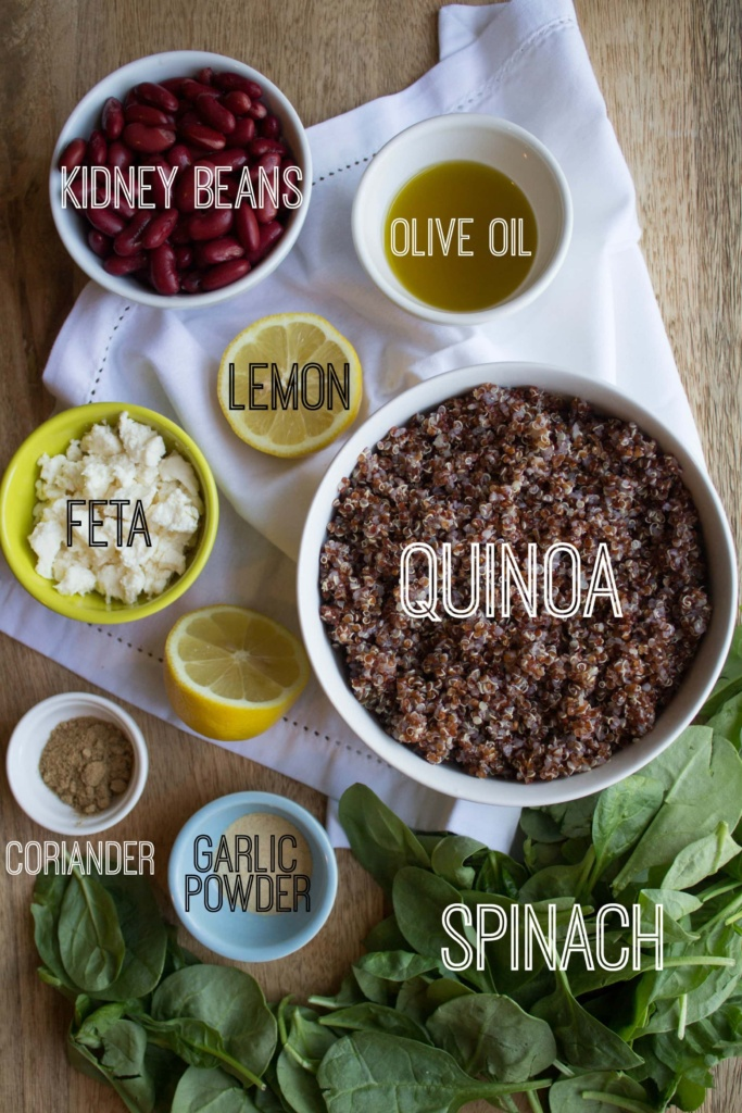 spinach quinoa salad ingredients