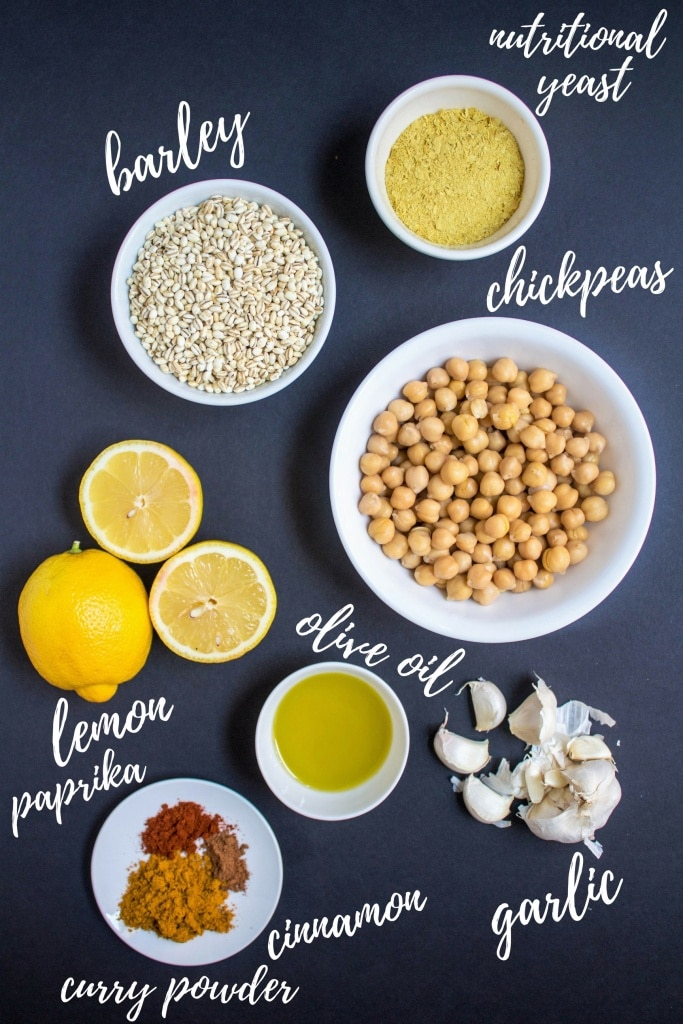 curried barley chickpea salad ingredients
