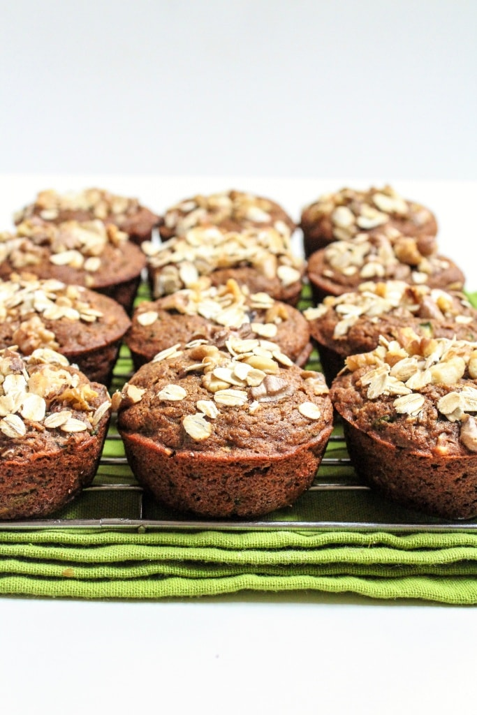 vegan whole wheat lemon zucchini muffins