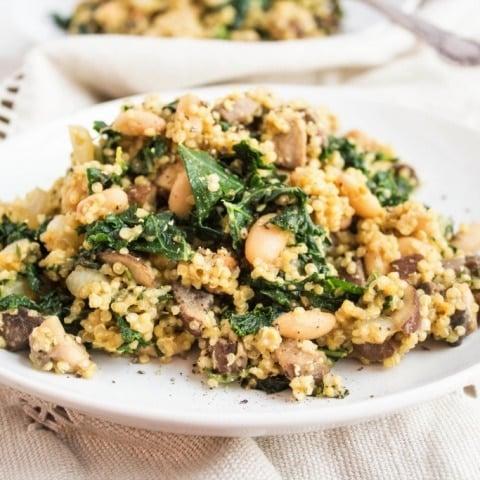 """Cheesy"" Vegan Mushroom Quinoa"