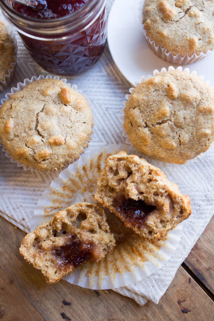 Whole Wheat Peanut Butter and Jelly Muffins Recipe