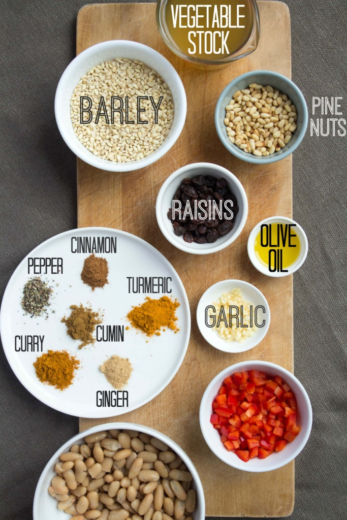 easy barley salad ingredients