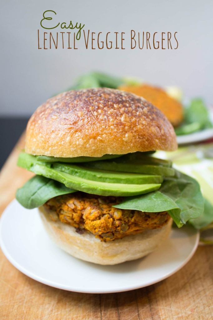 easy grilled lentil veggie burgers recipe