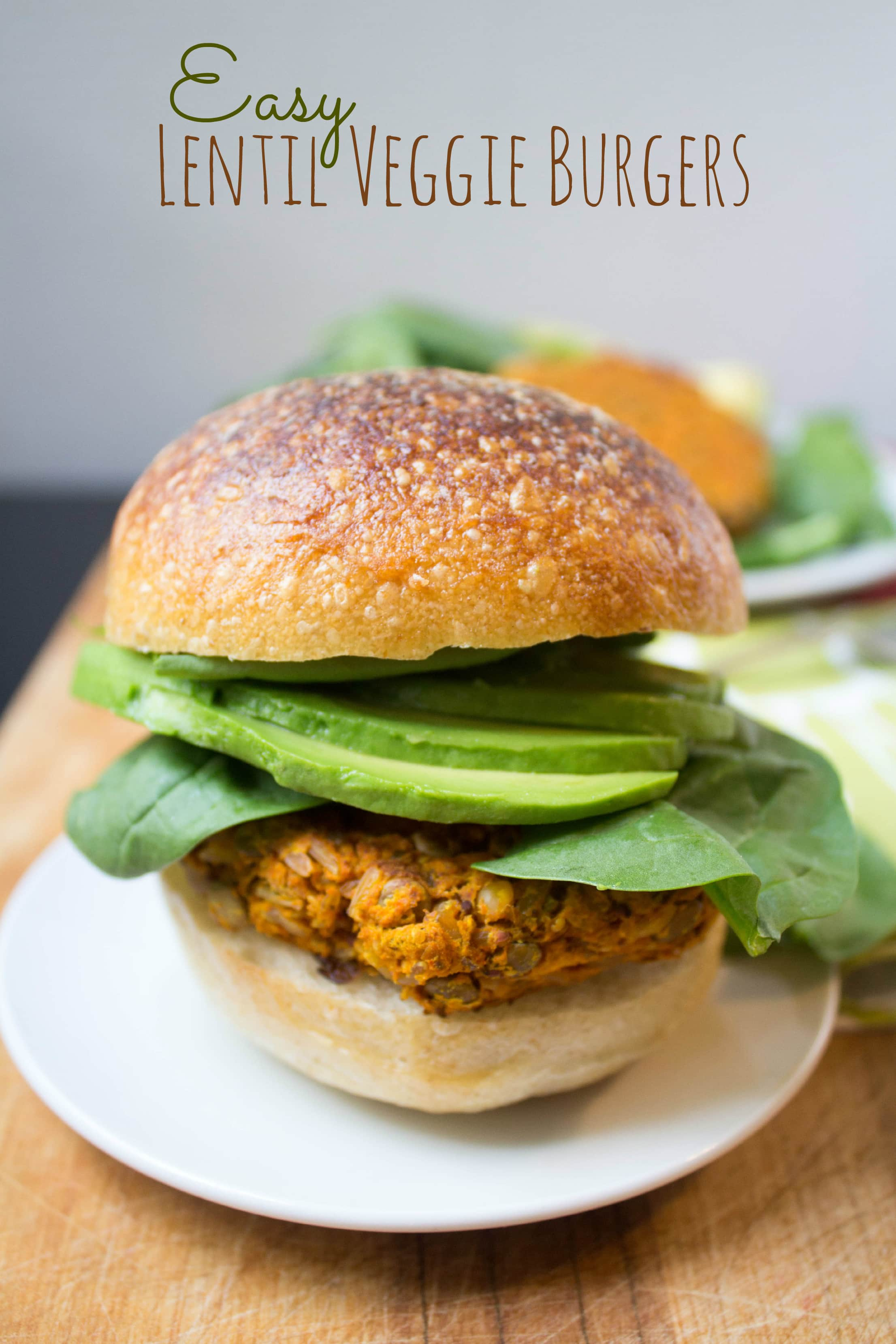 easy lentil veggie burgers recipe