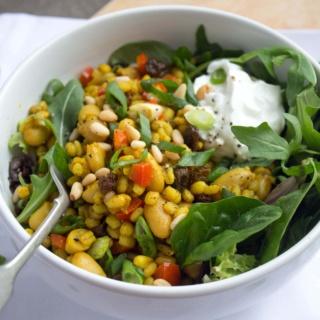 pine nut raisin barley salad