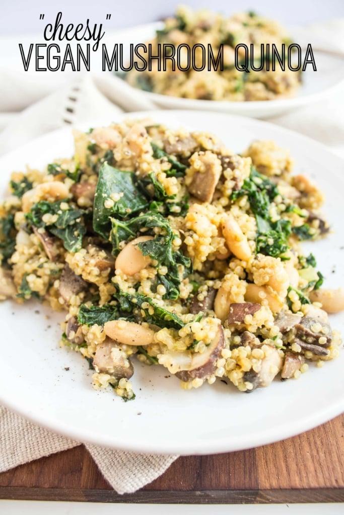 Vegan Mushroom Quinoa Side Dish Recipe