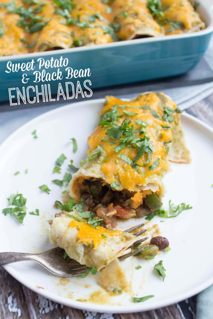 healthy and delicious Sweet Potato and Black Bean Veggie Enchiladas ...