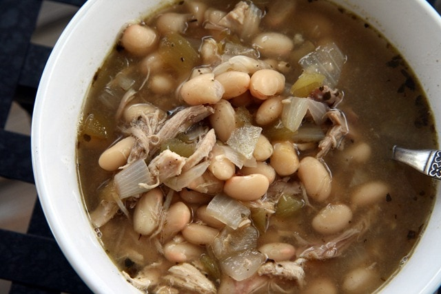 ... Chicken White Bean Chili Soup. So, so delicious. And so easy to make