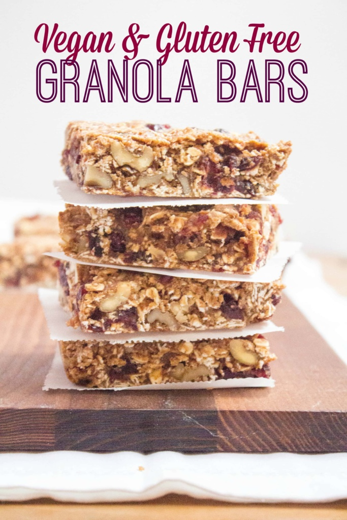 Vegan & Gluten Free Granola Bars | Gluten Free Recipe