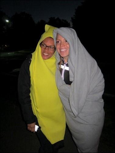 with banana