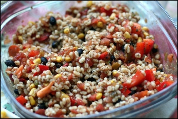 vegan mexican barley salad