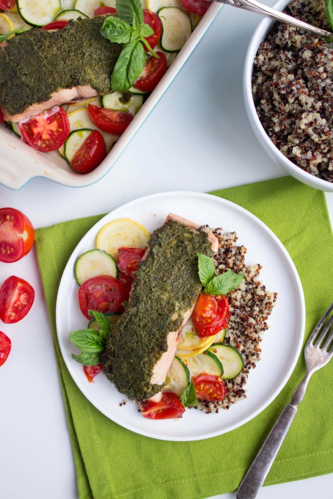pesto baked salmon easy dinner
