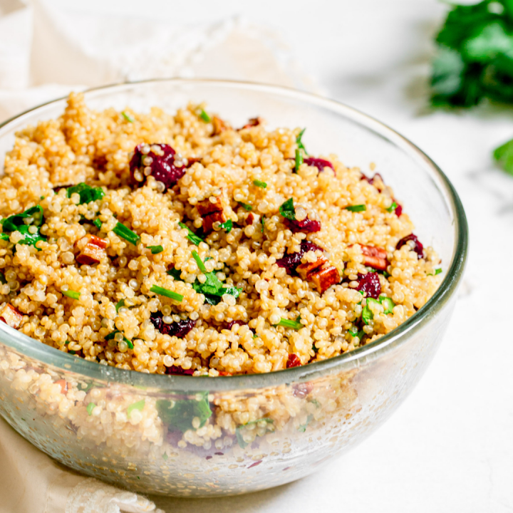 Vegan Cranberry Quinoa Salad Recipe