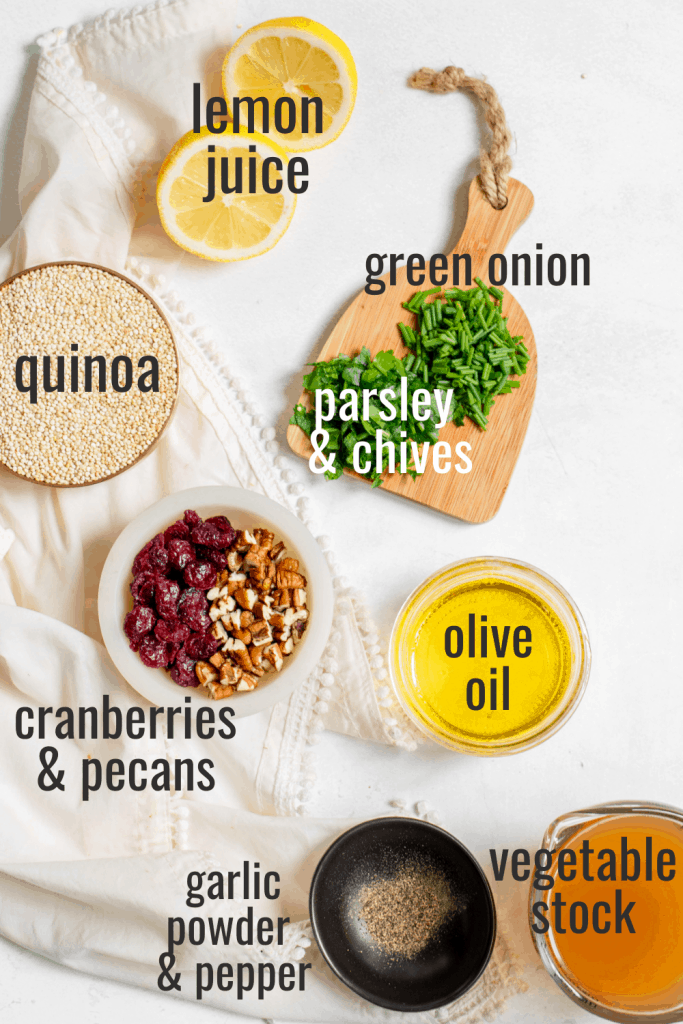vegan quinoa salad ingredients