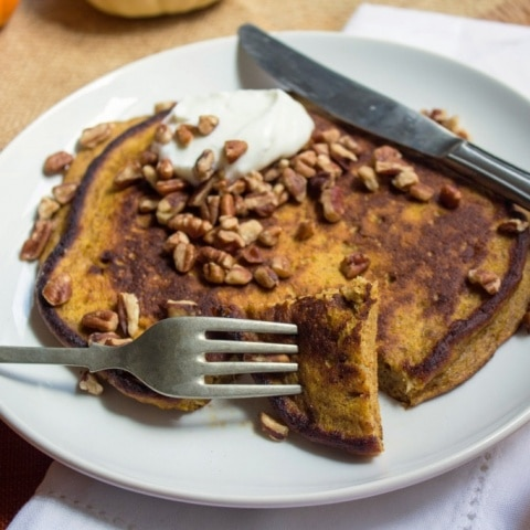 Gluten Free Spiced Pumpkin Pancake
