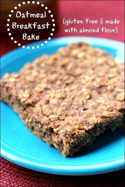 gluten free oatmeal breakfast bake
