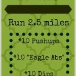 5 Mile Run + Strength Workout