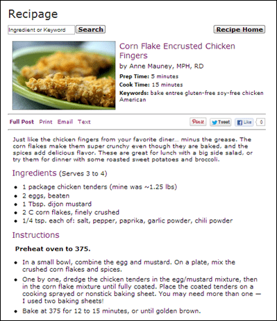 Recipage an early am run fannetastic food registered mine is a slideshow of featured recipes and i also added a widget that lets you search for forumfinder Image collections