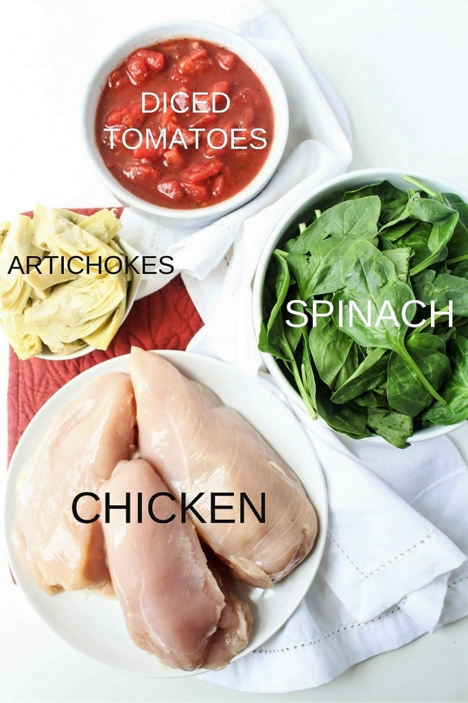 Saucy Tomato & Artichoke Chicken ingredients