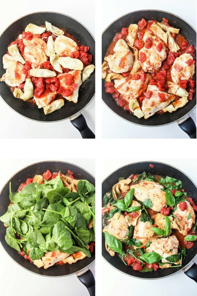 Saucy Tomato & Artichoke Chicken Steps